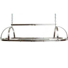 (Advantage Components SPR1001 Adjustable Oval Pot Rack, Stainless Steel)