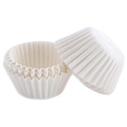 Bulk Buy: Wilton (6-Pack) Candy Cups 1in. 100/Pkg White Glassine Coated W1243
