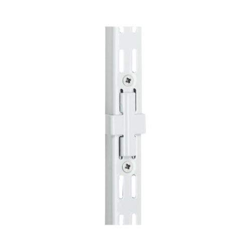 Rubbermaid Configurations 25-Inch Upright Extension with Connector, White (FG3H9303WHT) (Black Twin Track Upright)