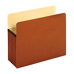 Pendaflex Standard Red Fiber Recycled File Pockets, 10 Pack - Letter Fiber