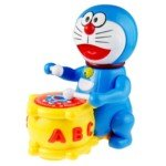 Likable Doraemon Figure Beat Drum Toy with Light/Music