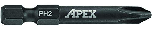 APEX AMB2PH2-5 Ind. 2 Phillips Power Drive PH2 5PK Apex Phillips Power Bit