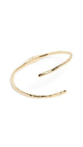 - gorjana Women's Taner Coil Hinge Cuff, Yellow Gold, One Size