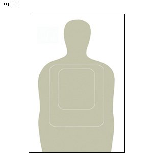 TQ-15CB FULL SIZE CARDBOARD TARGET 100 PACK by Law Enforcement Targets