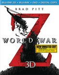 Blu-ray 3D : World War Z (With Blu-Ray, With DVD, 3 Pack, Digital Theater System, Dolby)