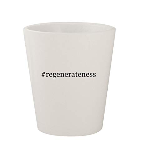 #regenerateness - Ceramic White Hashtag 1.5oz Shot Glass (Wexler Serum Skin Regenerating)