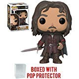 Funko Pop! Movies: The Lord of The Rings - Aragorn Vinyl Figure (Bundled with Pop Box Protector Case)