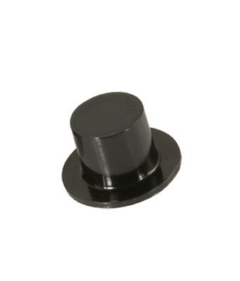 Black Plastic Mini Top Hats for Doll House Miniatures Favors Crafts 28mm -