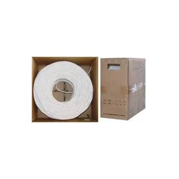 RG6 Dual Shield Plenum Rated Coaxial Cable with CCS Conductor - 1000ft - White
