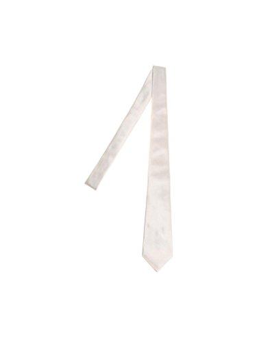 Kiton Men's Cravatta5 White Silk Tie by Kiton