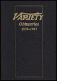 信頼 Variety Obituaries 1939-47 [並行輸入品] Variety [並行輸入品] Obituaries B07PKCBQFG, IVORIC MOMENT:cec6e111 --- efichas2.dominiotemporario.com