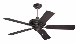 Emerson Ceiling Fans CF552ORB Veranda 52-Inch Indoor Outdoor Ceiling Fan, Wet Rated, Light Kit Adaptable, Oil Rubbed Bronze Finish - Emerson Ceiling Fan Light Kits