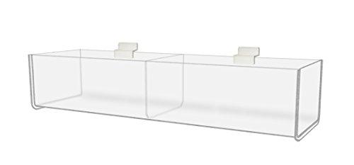 Marketing Holders Slatwall Bins Trays Organizer Display Racks Holders 16'' Bin 2 Pockets by Marketing Holders