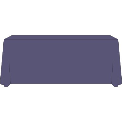 SWE 6 Foot 4-Sided Tablecloth (SWE Purple) by Society of Women Engineers