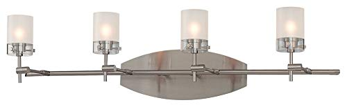 George Kovacs P5014-084, Shimo, 4 Light Vanity FIxture, Brushed Nickel