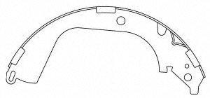 111 Brake (Centric (111.09600) Brake Shoe Set)
