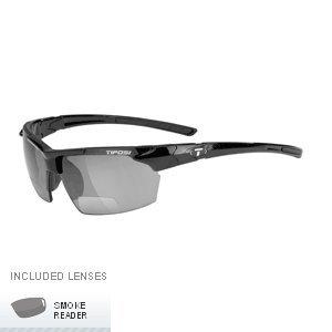 Tifosi Optics Jet Single Lens Sunglasses - Reader (Gloss Black Frame - +2.0 - Reader Sunglasses Tifosi