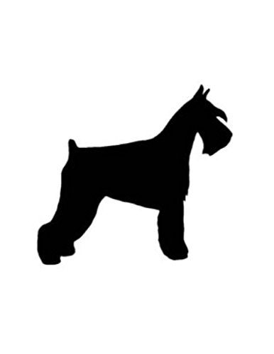 Schnauzer Dog Stencil Made From 4 Ply Matboard ()
