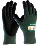 Cut Resistant Knit (ATG MAXIFLEX CUT 34-8743/XL Cut Resistant Nitrile Coated Work Gloves with Green Knit Shell and Premium Nitrile Coated Micro-Foam Grip on Palm & Fingers XTRA LARGE (ONE DOZEN))