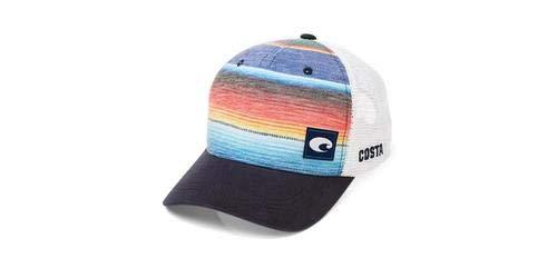 - Costa Del Mar Stripe Trucker Blue Hat