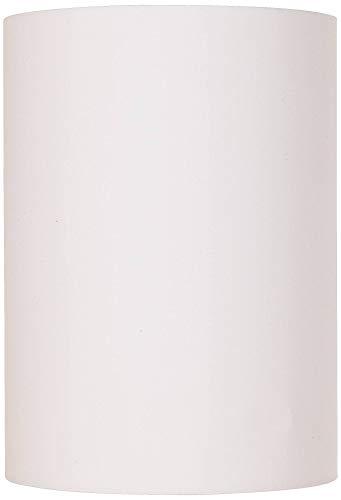 White Cotton Small Drum Cylinder Shade 8x8x11 (Spider) - Brentwood ()