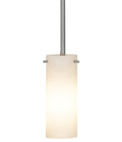 NEW Simple Modern Frosted Glass Pendant Light Brushed Finish | Contemporary Sleek Cylinder Design | Frosted Fixture