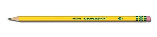 Ticonderoga No. 2 Soft Pencils, Twelve 24 Count Hang-Tab Boxes, Total 288 Pencils - (Wood-Cased, Black Writing) in Yellow (13924) by Dixon (Image #1)