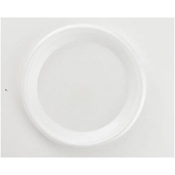 Boardwalk Non-Laminated Foam Plates, 10 1/4 Inches, White, 3 Compartments, 135/Pack - 4 packs of 135 plates. 540 plates per case.