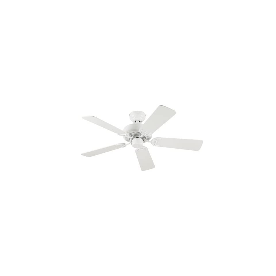 Choice 42 Inch Five Blade Indoor Ceiling Fan, White with White Blades