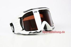redbull Gafas de esquí AX 60 Blanco Snowboard Gafas Casco (Gafas de esquí color: