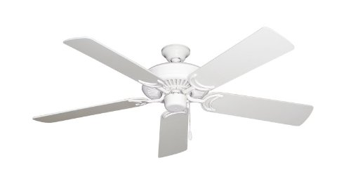 Riviera Traditional Ceiling Fan - Riviera Ceiling Fan in Pure White with 52