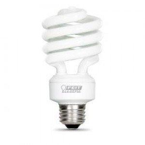 2 Fluorescent Compact Base Holder (Light Bulb 23 Watt (100 Watt Replacement) Soft White Twist Compact Fluorescent w/E26 Base-2PK)