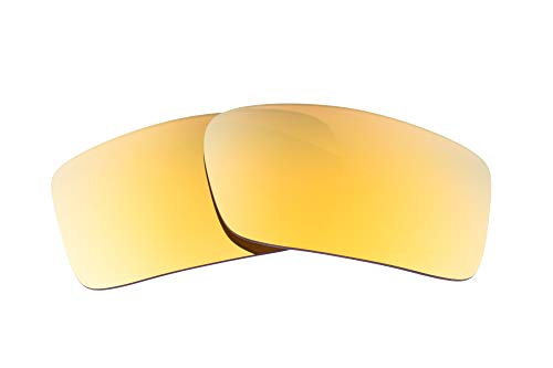 LenzFlip Replacement Lenses Compatible With Oakley Gascan - Brown with 24K Gold ()