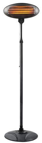 Heizleistung 2000 Watt mit Standfu/ß u Wickeltischstrahler verstellbar max Quarz Heizelemente 3 stufiger Heizstrahler Teleskopstange.