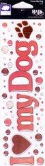 Fiskars Rain Dots Dimensional Epoxy Stickers, I Love My Dog Title (Rain Dots Dimensional Epoxy Stickers)