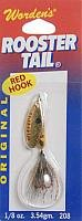 Wordens Rooster Tail (Wordens Rooster Red Hook Tail Lure, Yellow Coachdog, 1/8-Ounce)