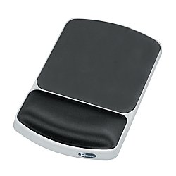 Gel Wrist Rest and Mouse Pad, Graphite/Platinum () - Fellowes 91741