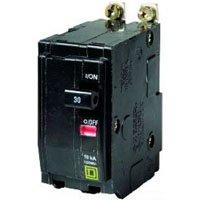 Square D QOB250 Miniature Circuit Breaker (QOB) Standard, 50A, 2-Pole, 120/240 Vac, 1-Phase, 10kA (2 50a Breaker Pole)