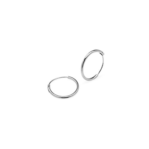Sterling Silver Round Endless Earrings