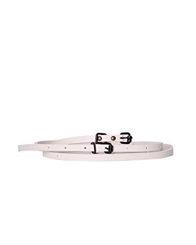DIESEL - Leather Belt BECCIO - white, 80