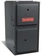 - Goodman 96% AFUE 120,000 BTU Two-Stage Variable Speed Upflow/Horizontal Gas Furnace