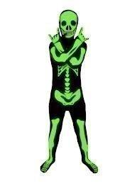 Kids Glow in the Dark Skeleton Morphsuit - Medium Age 8 to 10