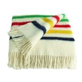 Hudson Bay Capote Throw Natural with Multi Stripes offers