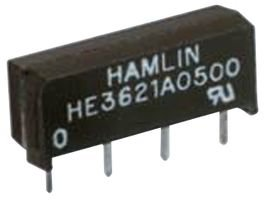HAMLIN HE3621A0500 REED RELAY, SPST-NO, 5VDC, 0.5A, THD (1 piece)