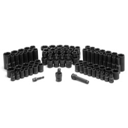 Grey Pneumatic 1281 Chrome Socket_Sets, 81 Pack