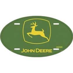 LICENSE PLATE - Oval John Deere