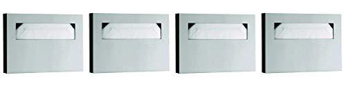 Bobrick Washroom Equipment B-221 Classic Toilet Seat Cover Dispenser Surf - 06-0221 (Pack of 4) ()