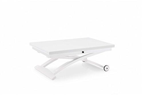 Connubia Mascotte Multifunctional Coffee Table - Matt Optic White Lacquered Top - Matt Optic White Lacquered Frame & Legs