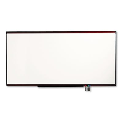 (Quartet Prestige Plus Premium Magnetic Porcelain Marker Board - Premium Dry-Erase Board, Porcelain/Steel, 96 x 48, White/Mahogany Frame)