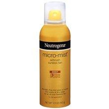 Neutrogena Micro-Mist Airbrush Sunless Tan Spray Deep 5.3 oz. (Quantity of 4)